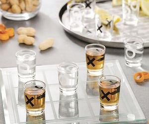 Shot Glass Noughts and Crosses Drinking Game Tic-Tac-Toe Drink Board Game